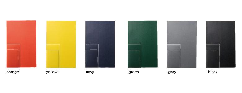 3つのサイズと6つのカラー。