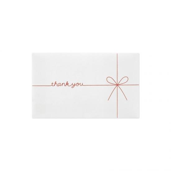 ギフト券袋 thank you ホワイト ミニ