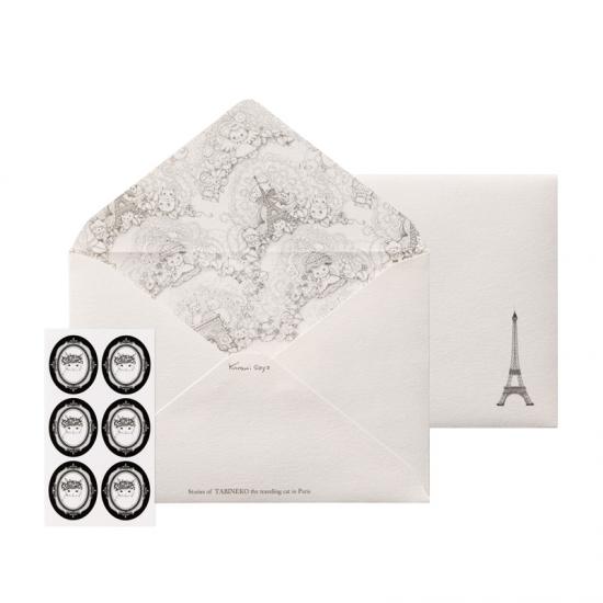旅ねこ 洋2封筒 Paris