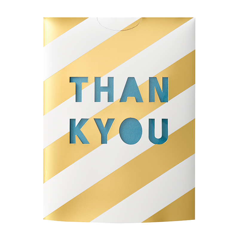 MESSAGE FLOWER VASE THANK YOU GREEN
