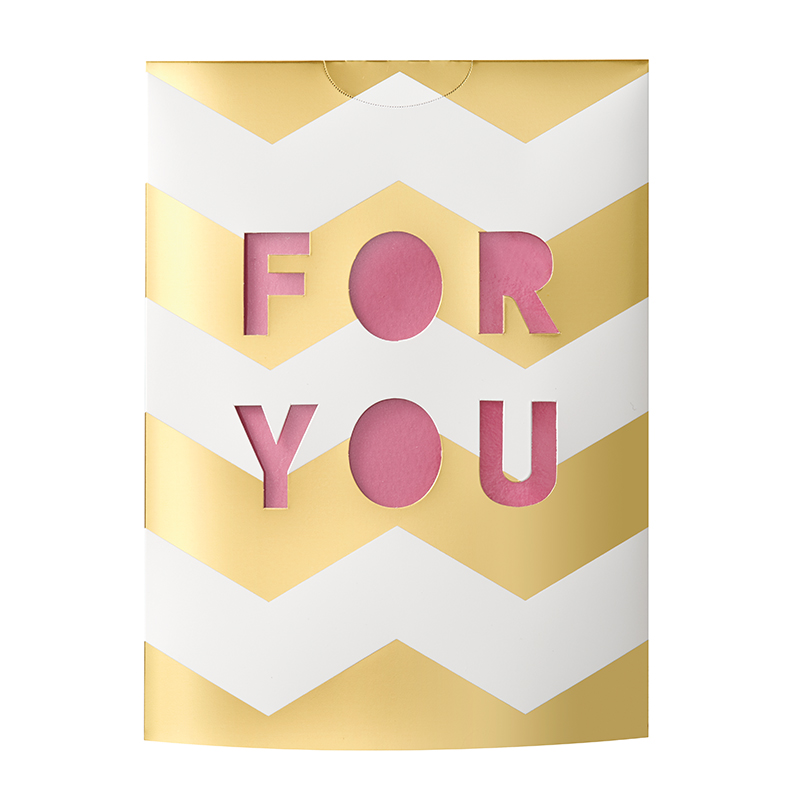 MESSAGE FLOWER VASE FOR YOU PINK