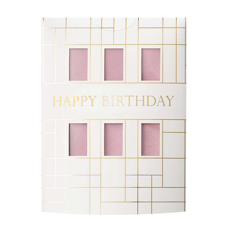 MESSAGE FLOWER VASE HAPPY BIRTHDAY PINK