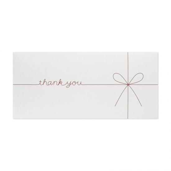ギフト券袋 thank you ホワイト