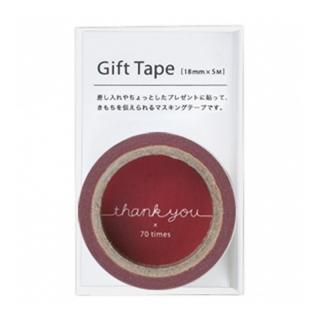 ギフトテープ thank you レッド